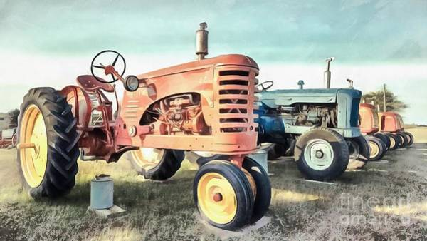 Prince Edward Island Painting - Vintage Tractors New Glasgow Pei by Edward Fielding