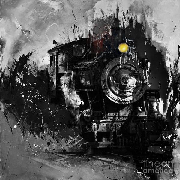 Alfa Romeo Painting - Vintage Train 03 by Gull G