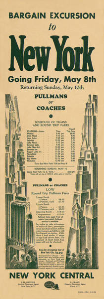 Photograph - Vintage Train Ad 1936 by Andrew Fare