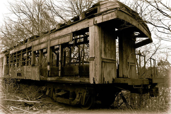 Photograph - Vintage Train by Amber Flowers