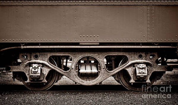 Wall Art - Photograph - Vintage Train Car Truck by Olivier Le Queinec