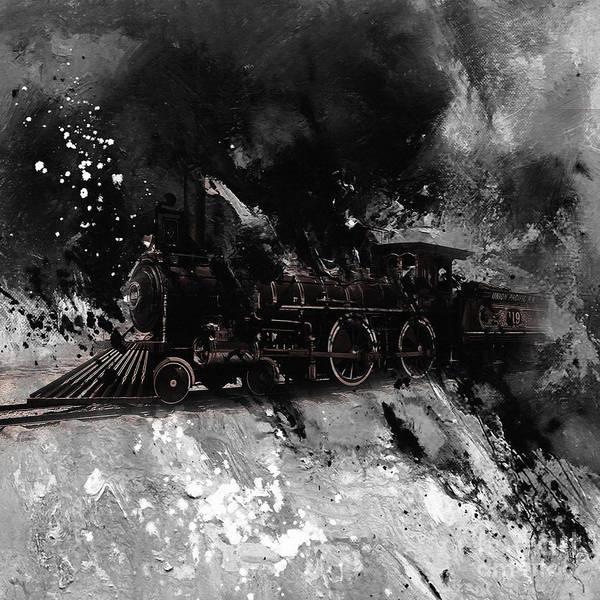 Alfa Romeo Painting - Vintage Train by Gull G