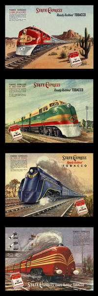 Photograph - Vintage Train Montage by Andrew Fare