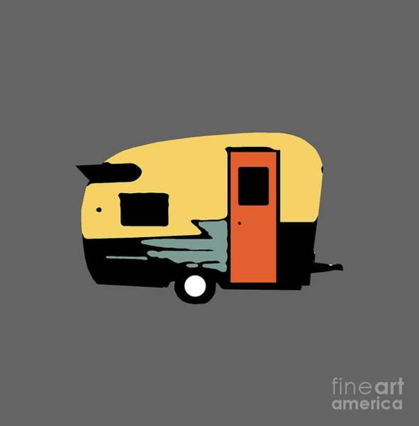 Camper Wall Art - Photograph - Vintage Travel Camper Transparent by Edward Fielding