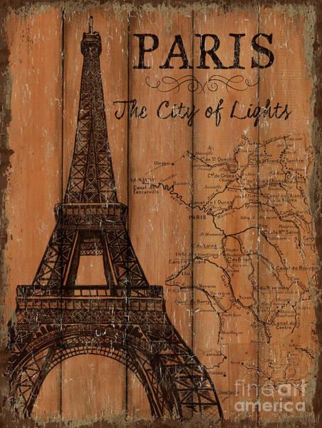 Wall Art - Painting - Vintage Travel Paris by Debbie DeWitt