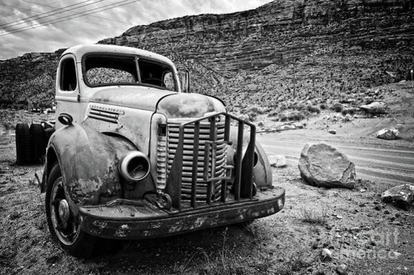 Pick Up Truck Photograph - Vintage Truck by Delphimages Photo Creations