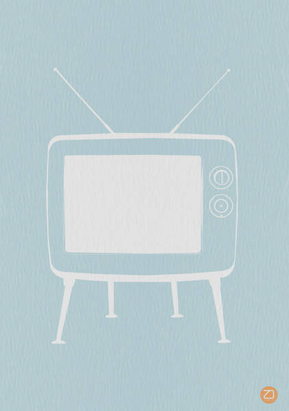 Iconic Digital Art - Vintage Tv Poster by Naxart Studio