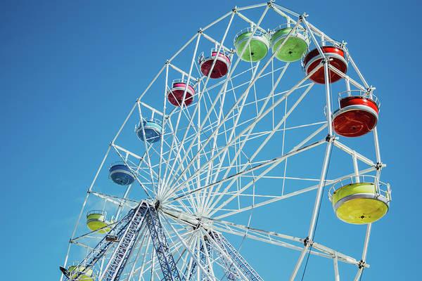 Wall Art - Photograph - Vintage Vibrant Ferris Wheel by Pati Photography