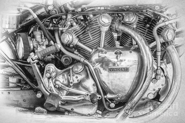Photograph - Vintage Vincent Engine by Tim Gainey