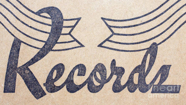 Photograph - Vintage Vinyl Records Logo by Edward Fielding