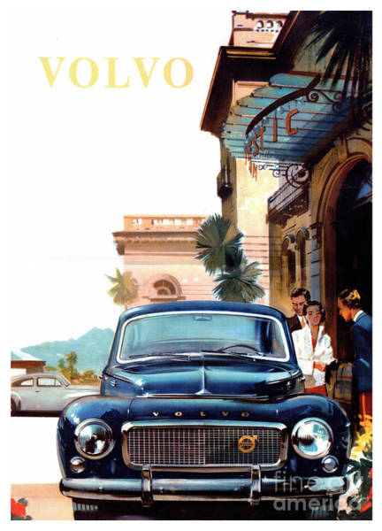 Wall Art - Photograph - Vintage Volvo Advertisement by Jon Neidert