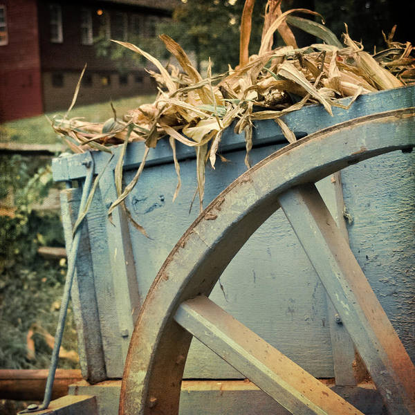 Photograph - Vintage Wagon Wheel by Joann Vitali