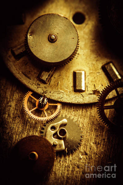 Mechanism Photograph - Vintage Watch Parts by Jorgo Photography - Wall Art Gallery