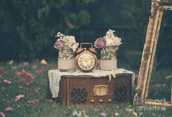 Golden Gardens Photograph - Vintage Wedding Decoration Still Life by Jelena Jovanovic