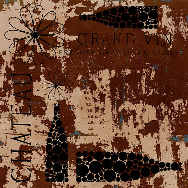 Aged Mixed Media - Vintage Wine by Frank Tschakert