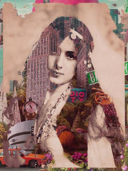 Manhattan Skyline Painting - Vintage Woman Built By New York City 2 by Tony Rubino