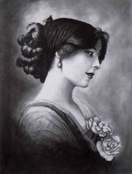 Drawing - Vintage Woman by Chuck Caputo