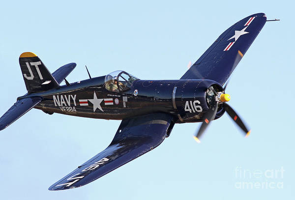 Photograph - Vintage World War II Corsair Fighter by Kevin McCarthy