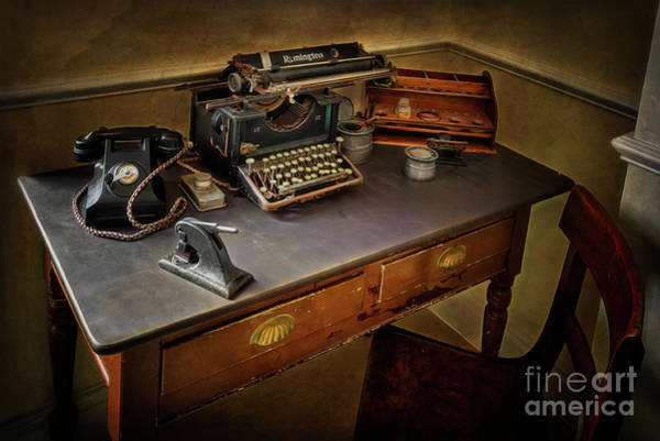 Photograph - Vintage Writers Corner by Adrian Evans