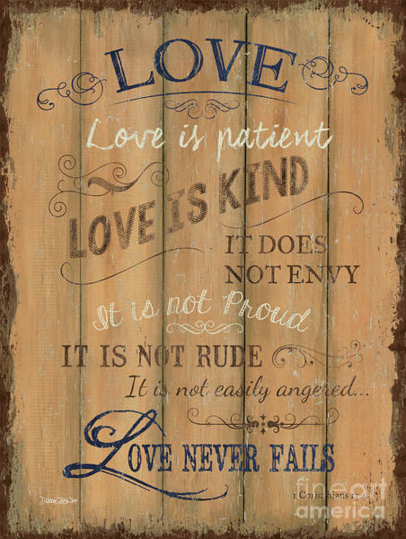 Wall Art - Painting - Vintage Wtlb Love by Debbie DeWitt