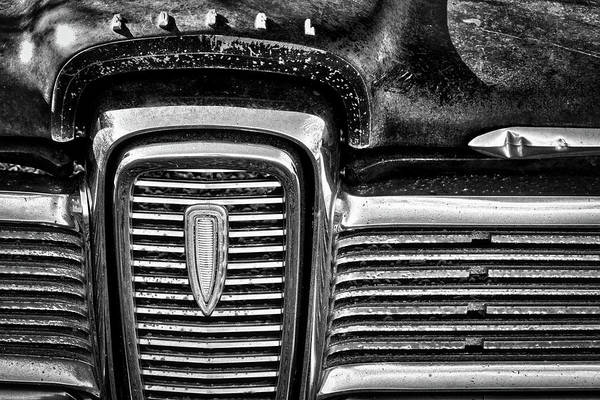 Clunker Wall Art - Photograph - Vintge Edsel Front Grill by Stuart Litoff