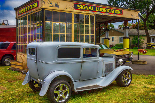 Wall Art - Photograph - Vintiage Car At Old Gas Station by Garry Gay