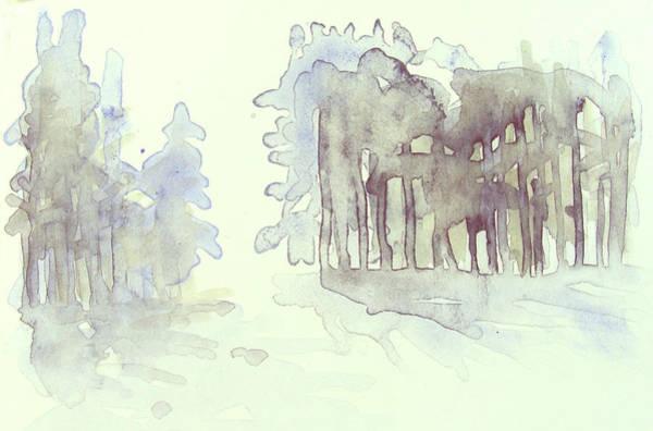 Vintrig Skogsglanta, A Wintry Glade In The Woods 2,83 Mb_0047 Up To 60 X 40 Cm Art Print
