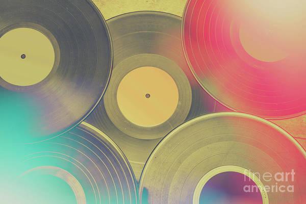 Record Album Wall Art - Photograph - Vinyl Recordings Background by Jorgo Photography - Wall Art Gallery
