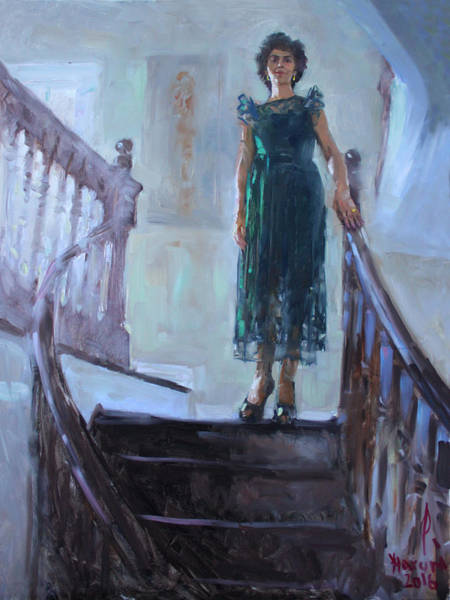 Stairs Painting - Viola Happy New Year 2017 by Ylli Haruni