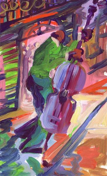 Wall Art - Painting - Viola Late For The Gig by Saundra Bolen Samuel