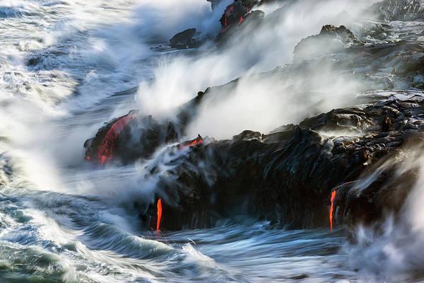 Magma Wall Art - Photograph - Violence by Christopher Johnson
