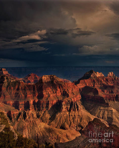 Photograph - Violent Storm Over The North Rim Grand Canyon National Park Arizona by Dave Welling