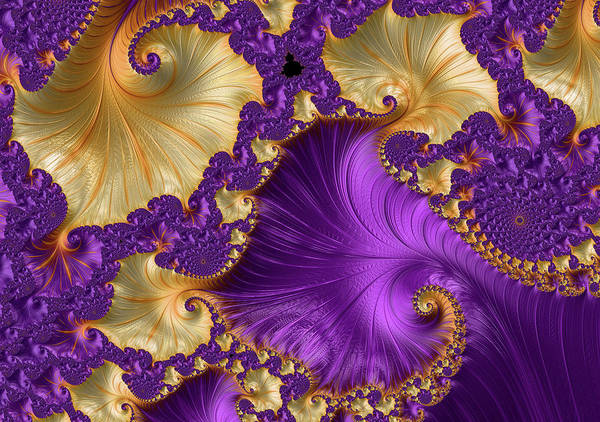 Delight Digital Art - Violet And Orange Delight Abstract by Georgiana Romanovna
