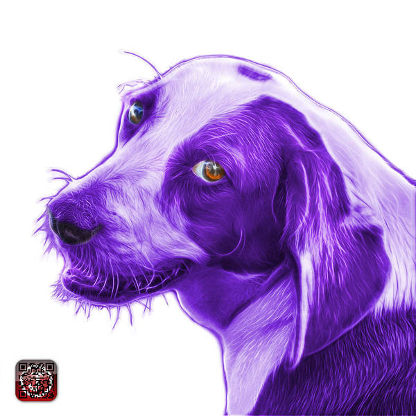 Painting - Violet Beagle Dog Art- 6896 -wb by James Ahn