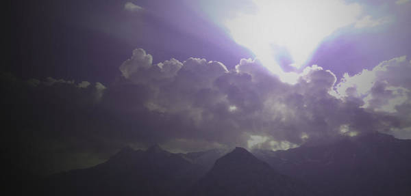 Photograph - Violet Clouds by Laura Greco