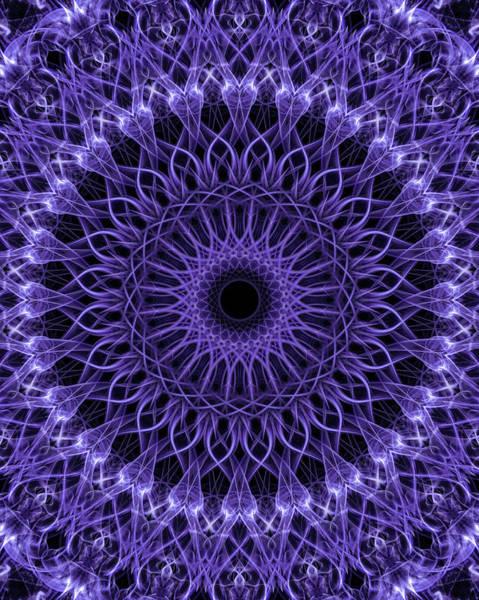Digital Art - Violet Digital Mandala by Jaroslaw Blaminsky