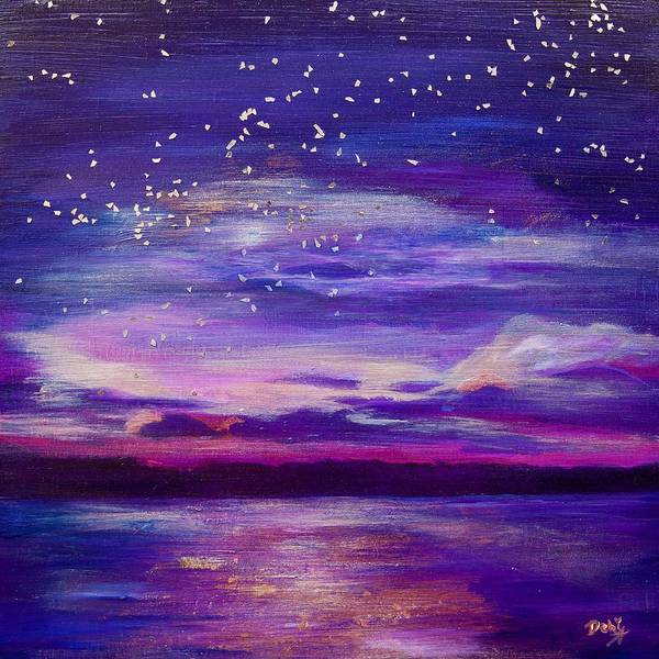 Wall Art - Painting - Violet Evening by Debi Starr