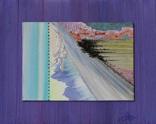 Novelties Painting - Violet Eyes by April Zaidi