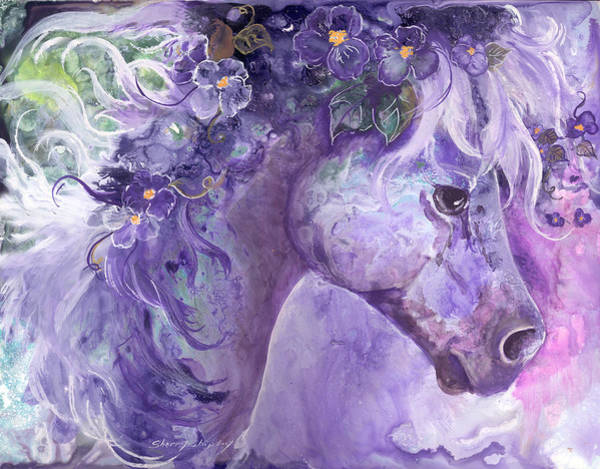 Painting - Violet Fantasy by Sherry Shipley