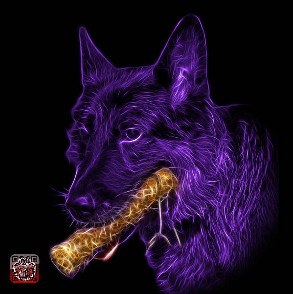Painting - Violet German Shepard And Toy - 0745 F by James Ahn