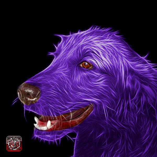 Painting - Violet Golden Retriever Dog Art- 5421 - Bb by James Ahn
