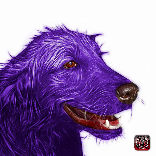 Painting - Violet Golden Retriever Dog Art- 5421 - Wb by James Ahn