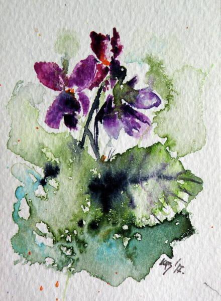 Violet Painting - Violet Iv by Kovacs Anna Brigitta