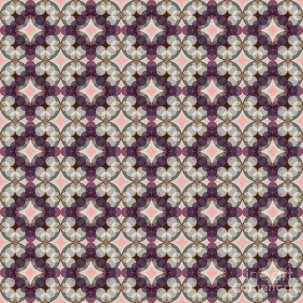 Textura Wall Art - Digital Art - Violet Kaleidoscope Pattern by Studio Textura
