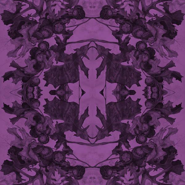 Painting - Violet Oak Tree Pattern by Mastiff Studios