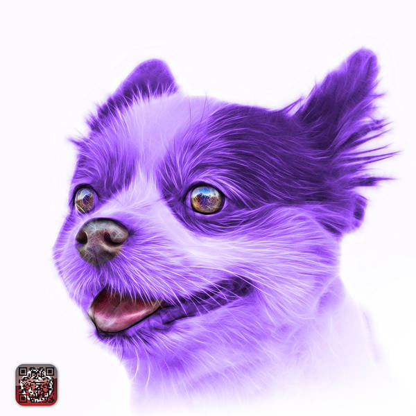 Painting - Violet Pomeranian Dog Art 4584 - Wb by James Ahn