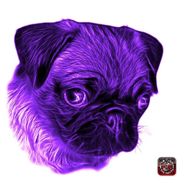 Digital Art - Violet Pug -  9567 Fs W by James Ahn