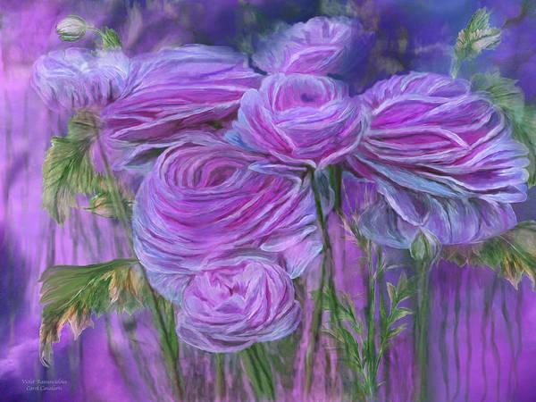 Mixed Media - Violet Ranunculus by Carol Cavalaris