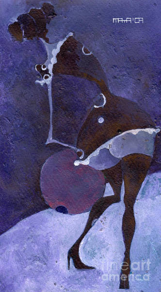 Violet Snawball Art Print by Maya Manolova