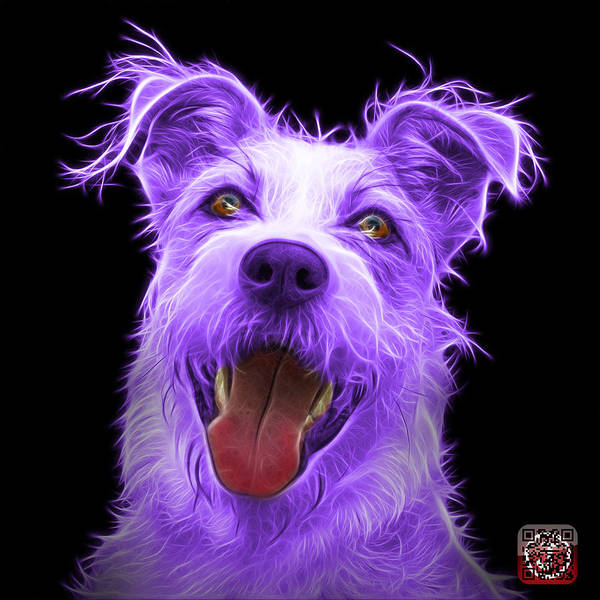 Painting - Violet Terrier Mix 2989 - Bb by James Ahn